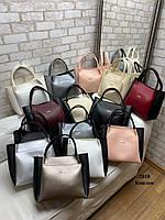 Женская сумочка+клатч Беж-Черный. Шикарная сумочка клатч Zara. Комплект женская сумка Zara Зара и клатч., фото 3