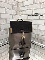 Модная сумка-рюкзак из качественного кожзама с натуральной замшей (ZARA, YVES SAINT LAURENT, Michael Kors), фото 3