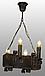 Люстра из дерева подвес бревно на 4 свечи 130924, фото 2