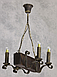 Люстра из дерева подвес бревно на 4 свечи 130924, фото 3