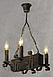 Люстра из дерева подвес бревно на 4 свечи 130924, фото 4