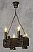 Люстра из дерева подвес бревно на 4 свечи 130924, фото 5