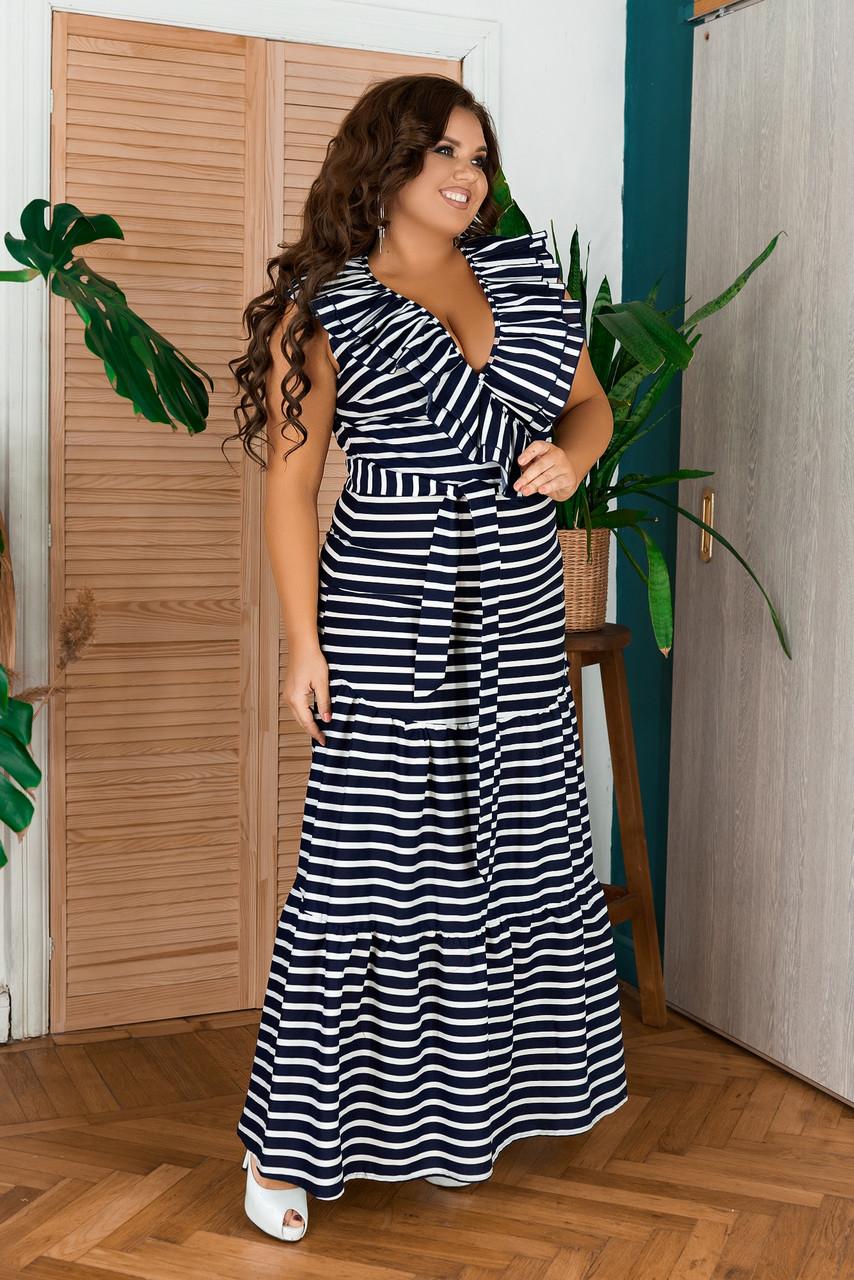 Кокетливое платье большого размера в полоску, Коттоновое платье женское в полоску с поясом. Коттоновое платье-рубашка женское в полоску с поясом.