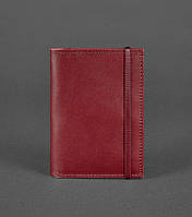 Обложка для паспорта кожаная марсала