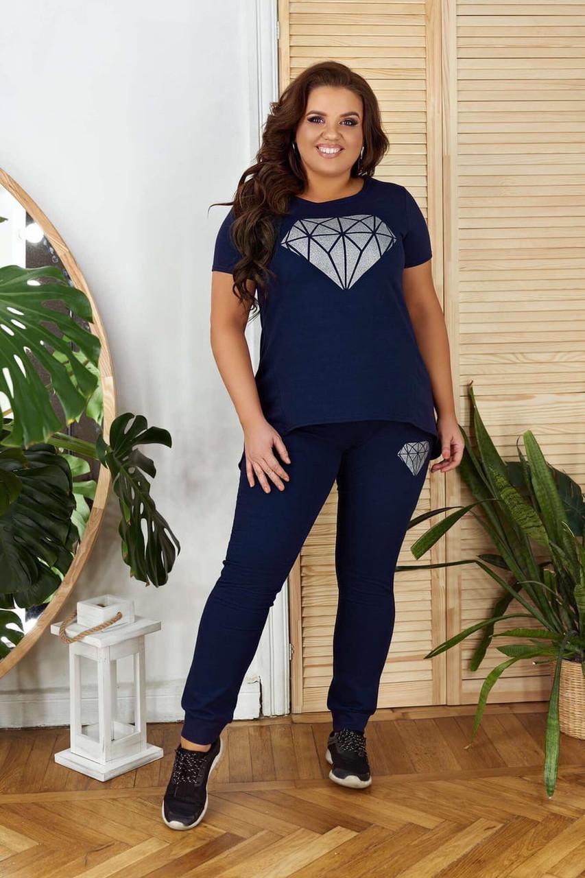 Спортивные костюмы большого размера, Спортивный костюм женский летний большого размера