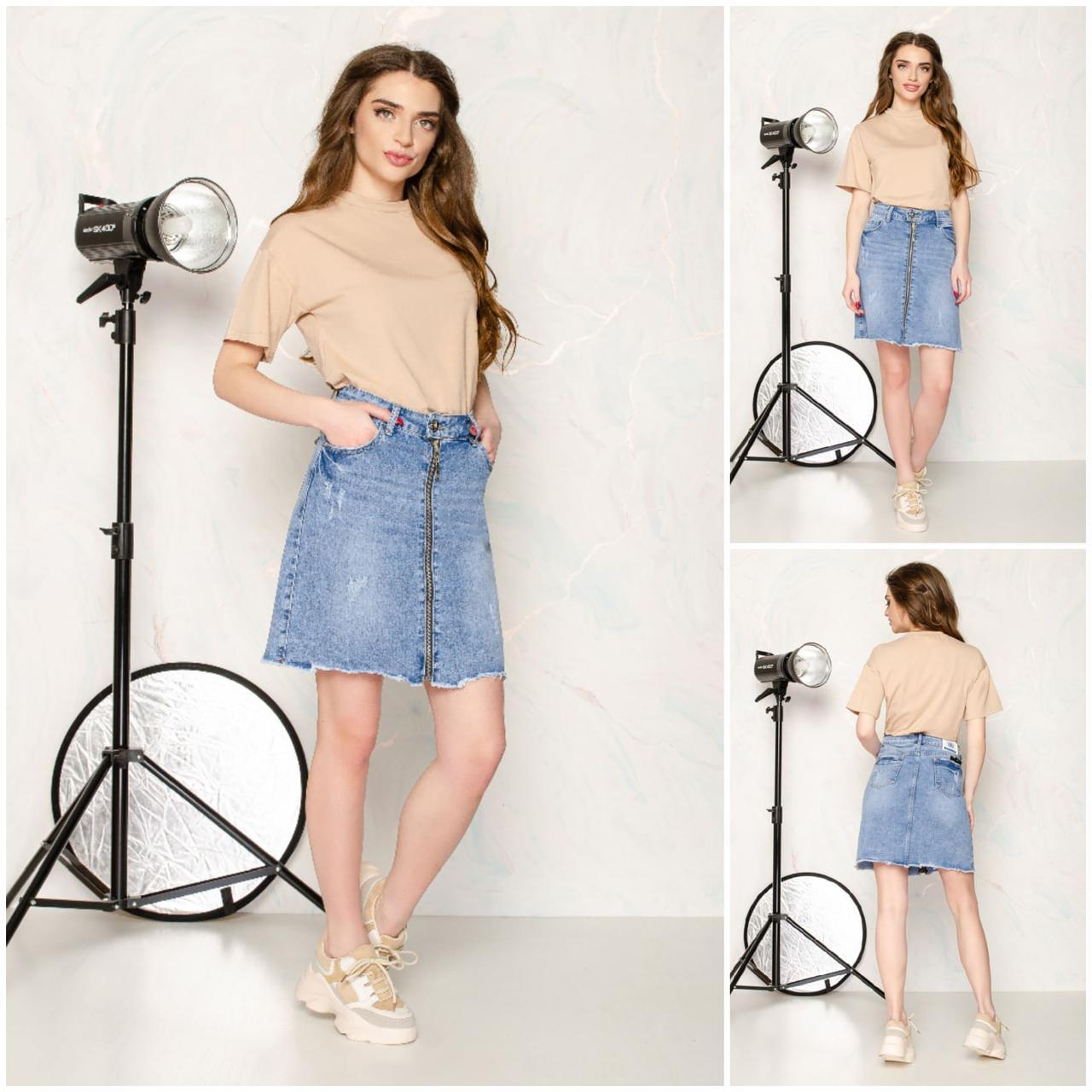 Юбка джинсовая на молнии,  Юбка джинсовая, Джинсовая юбка, Юбка женская джинсовая.
