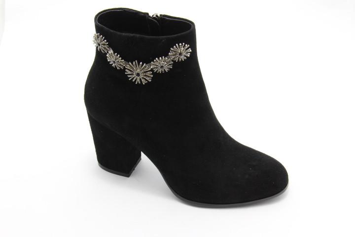 Чорні замшеві черевики Battine B0428