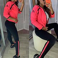 Женский стильный спортивный костюм из эластана, Фитнес костюм для спорта, йоги, бега