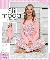 Пижама хлопок кофта и штаны XL