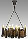 Люстра для кафе деревянная на 6 свечей 130926, фото 4