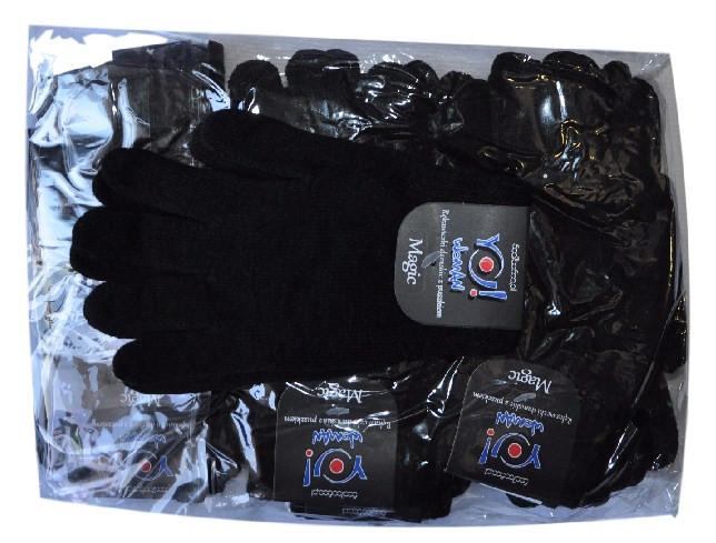 Перчатки  шерстянные , черные , стрейч , взрослые .