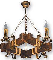Люстра в стиле Лофт на цепи на 4 свечи