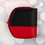 Женские кожаные портмоне KAFA с RFID-защитой  (КОМБИНИРОВАН)10.5*11см, фото 2