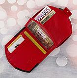 Женские кожаные портмоне KAFA с RFID-защитой  (КРАСНЫЙ ЛАК)10.5*11см, фото 2