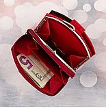 Женские кожаные портмоне KAFA с RFID-защитой  (КРАСНЫЙ ЛАК)10.5*11см, фото 3
