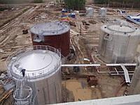 Строительство металлических резервуаров для нефтепродуктов