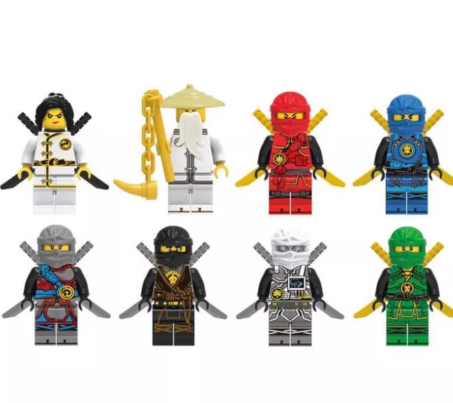 Набор Лего Ниндзяго 8 штук Мини фигурки Аналог Конструктор