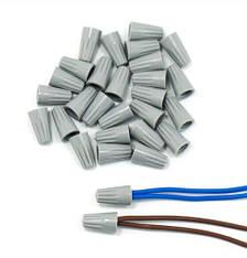 Колпачки для скрутки кабеля P1 (серые) = 2*1,5 кв мм (100шт), фото 2
