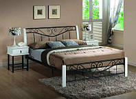 Ліжко двоспальне Parma чорний / білий signal