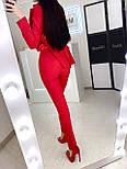 Женский классический брючный костюм с пиджаком и зауженными штанами vN10141, фото 6
