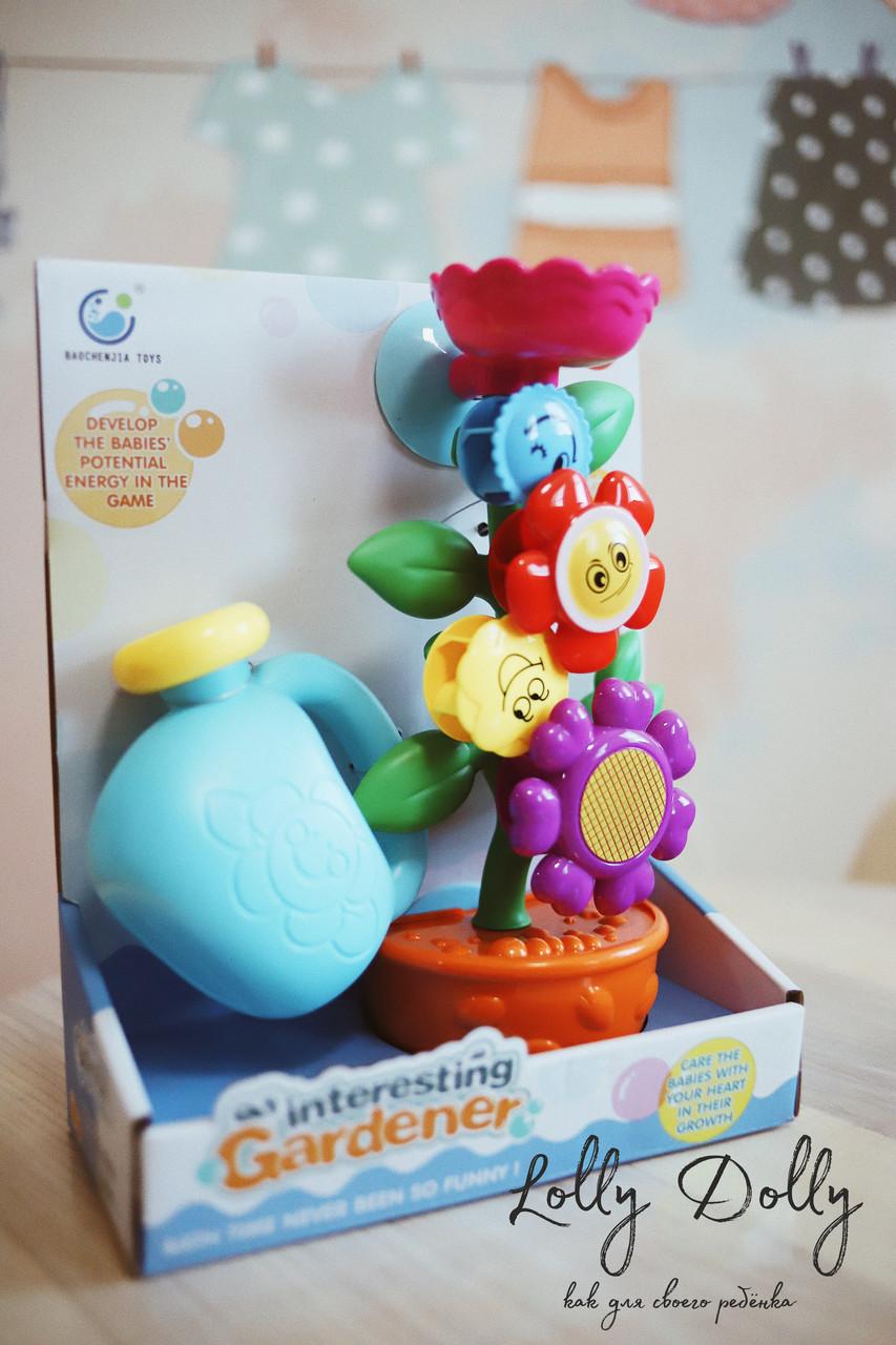 Іграшка-водоспад для ванної Квітка в горщику 9909
