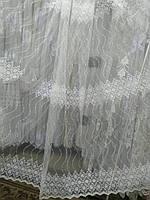 Шикарний тюль Французький фатін з красивою вишивкою п-во Туреччина, фото 1