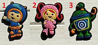 Джибитсы, украшения, декоративные штучки для Crocs. Jibbitz Shoe and Clog Charms. Команда Умизуми / Team Umizoomi