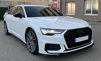 Элерон Audi A6 C8 S-line / S6 C8 тюнинг губа обвес (V2)