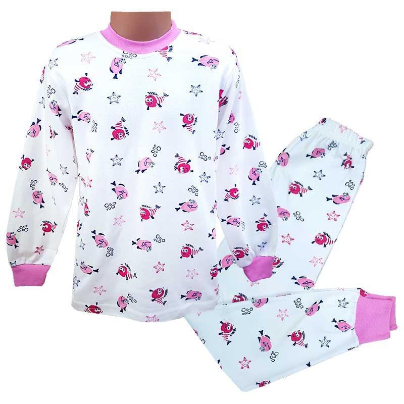 """Пижама для девочки """"Рыбки"""" 110-122 (5-7л.) 02020"""