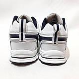 Чоловічі кросівки Bona Fashion натуральна шкіра Бона Білий, фото 7