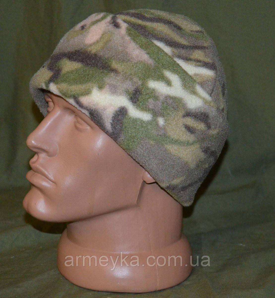 Зимняя флисовая шапка в расцветке MTP. НОВАЯ, UA.
