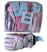 Перчатки YO , болоньевые , на флисе , для девочек от 5-8 лет .