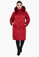 Воздуховик Braggart Angel's Fluff 31046 | Женская зимняя куртка рубиновая
