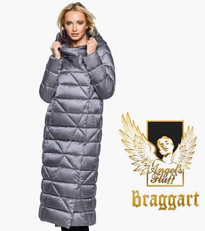 Воздуховик Braggart Angel's Fluff 31058   Зимняя женская куртка жемчужно-серая, фото 2