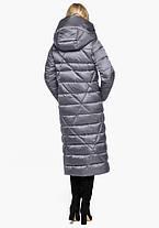 Воздуховик Braggart Angel's Fluff 31058   Зимняя женская куртка жемчужно-серая, фото 3