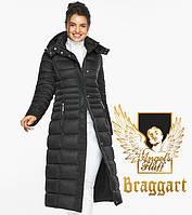 Воздуховик Braggart Angel's Fluff 43575  Теплая зимняя куртка черного цвета