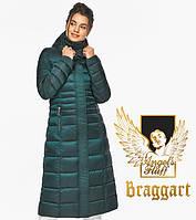 Воздуховик Braggart Angel's Fluff 43575  Теплая зимняя куртка изумрудная