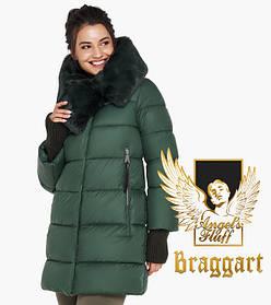 Воздуховик Braggart Angel's Fluff 31027  Зимняя женская куртка нефритовая