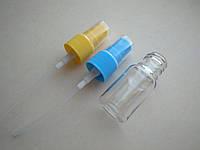 10 мл ПЭТ с желтым, синим спреем, бутылка, флакон пластмассовый, прозрачный в комплекте с распылителем 18/410