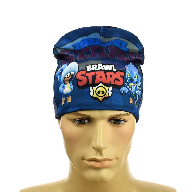 "Зимняя детская шапка ""Brawl Stars"" на флисе"