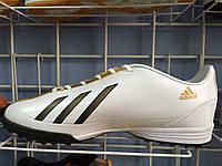 Сороконожки adidas  бело-золотые, фото 1