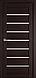 """Двері засклені міжкімнатні новий стиль мода пвх ultra """"Леона BLK,G 60 - 90 см дуб сірий, фото 2"""