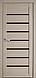 """Двері засклені міжкімнатні новий стиль мода пвх ultra """"Леона BLK,G 60 - 90 см дуб сірий, фото 3"""