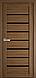 """Двері засклені міжкімнатні новий стиль мода пвх ultra """"Леона BLK,G 60 - 90 см дуб сірий, фото 5"""