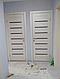 """Двері засклені міжкімнатні новий стиль мода пвх ultra """"Леона BLK,G 60 - 90 см дуб сірий, фото 7"""