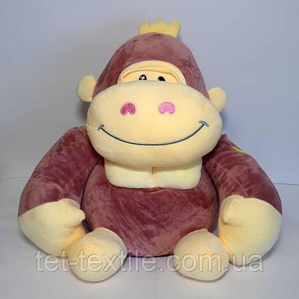 Мягкая игрушка с пледом внутри, горила лиловая, фото 2