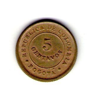 Колумбия, Лепрозорий 5 сентаво 1901 год П35