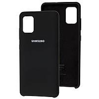 Чехол Silicone Case для Samsung Galaxy A51 Black