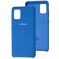 Чехол Silicone Case для Samsung Galaxy A51 Light Blue