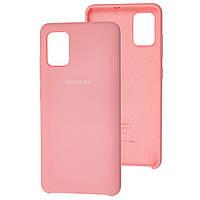 Чехол Silicone Case для Samsung Galaxy A51 Light Pink